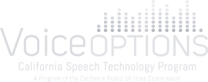 Logo of Voice Options.